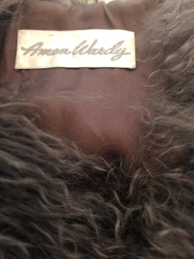 Vintage Amen Wardy 1970s Avant Garde Grey + Brown Mixed Fur Leather Vest Jacket For Sale 14