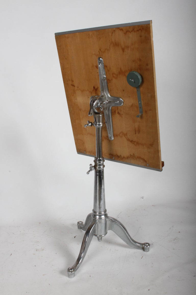 Vintage American Cast Iron Base Drafting Table For Sale At