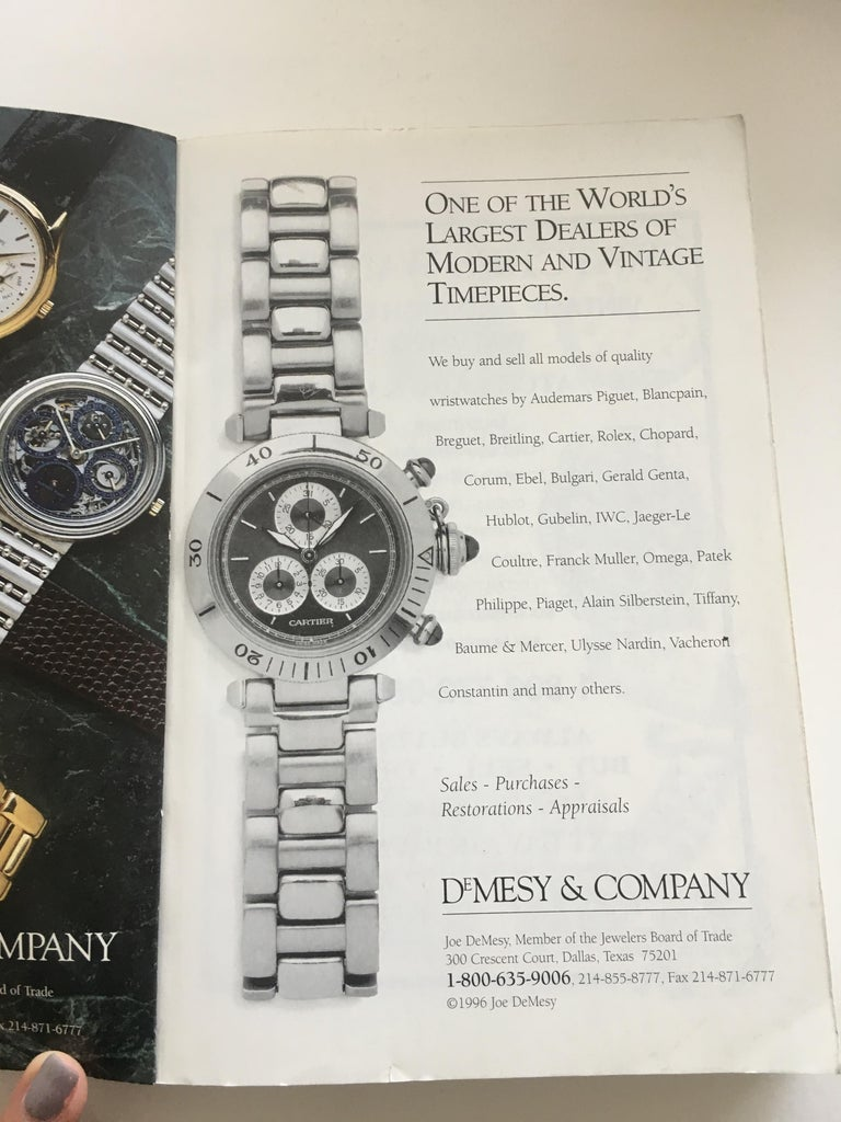 Black Vintage American & European Silver Anniversary Wristwatch Price Guide Published  For Sale
