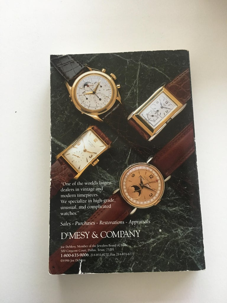 Vintage American & European Silver Anniversary Wristwatch Price Guide Published  In New Condition For Sale In Dallas, TX