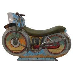 Vintage American Folk Art Carnival Carousel Motorcycle Ride