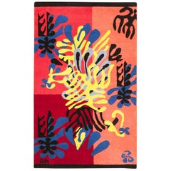 Vintage American Henri Matisse Mimosa Rug. Size: 3 ft x 4 ft 10 in