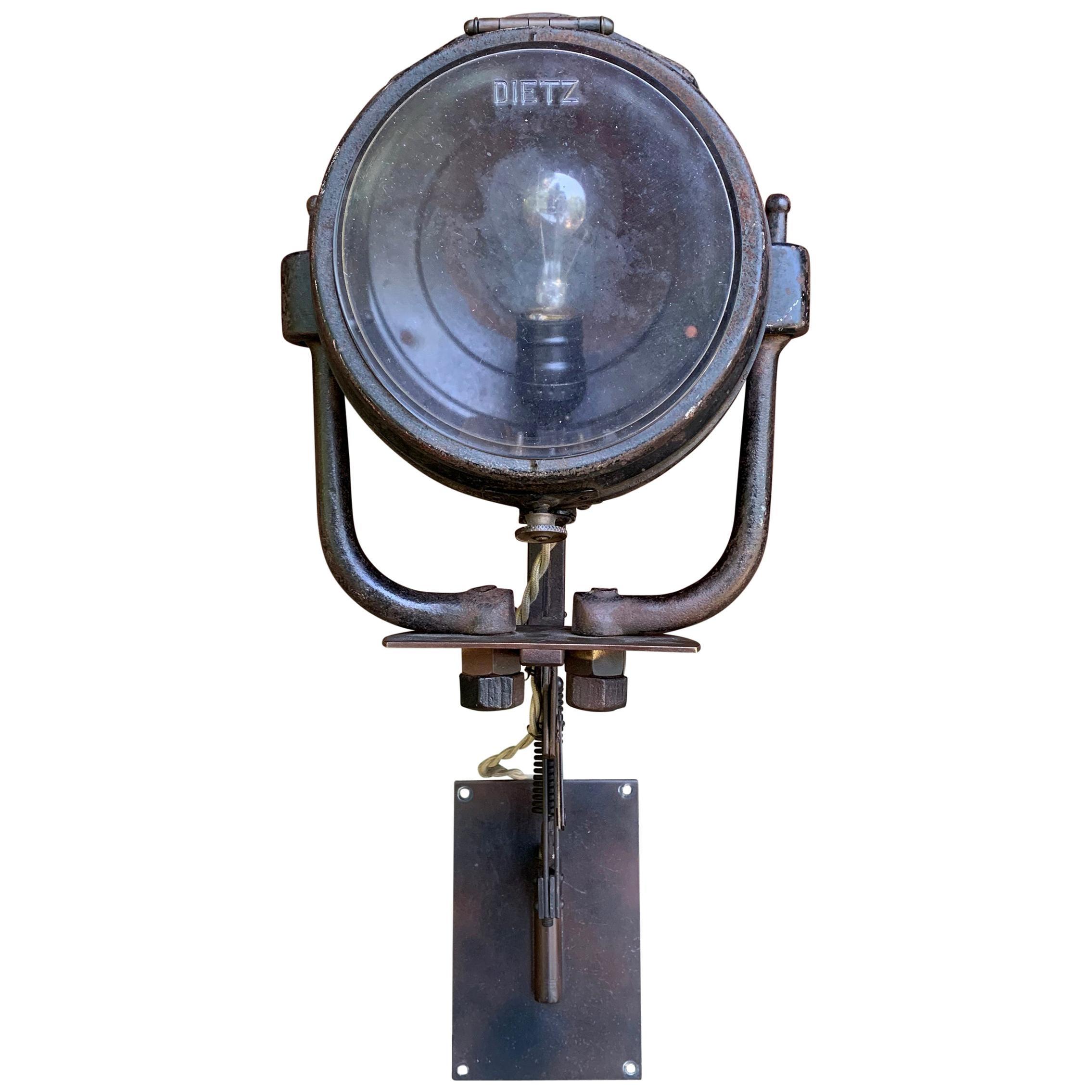 Vintage American Industrial Swing-Arm Extension Lamp