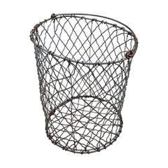 Vintage American Industrial Wire Basket