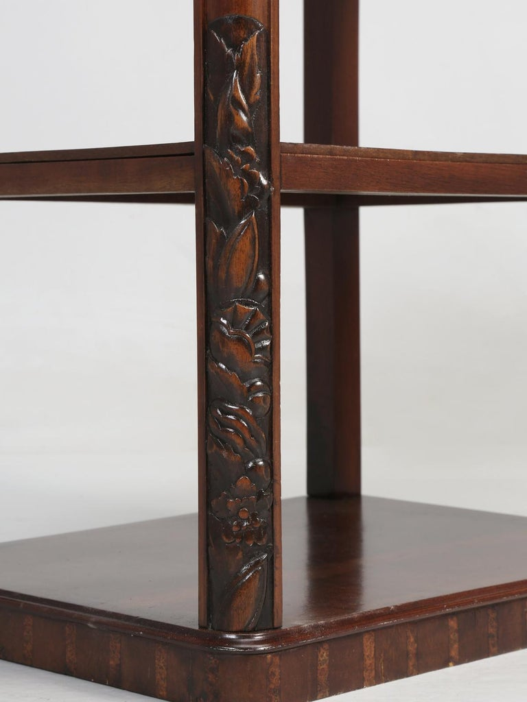 Vintage American Mahogany End Table, Nightstand or Side Table, Restored For Sale 6