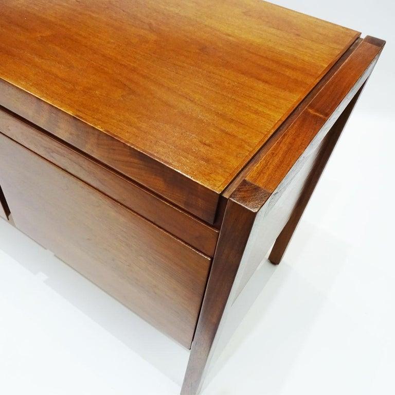 20th Century Vintage American Midcentury Jens Risom Walnut Office Bureau, Sideboard Credenza For Sale