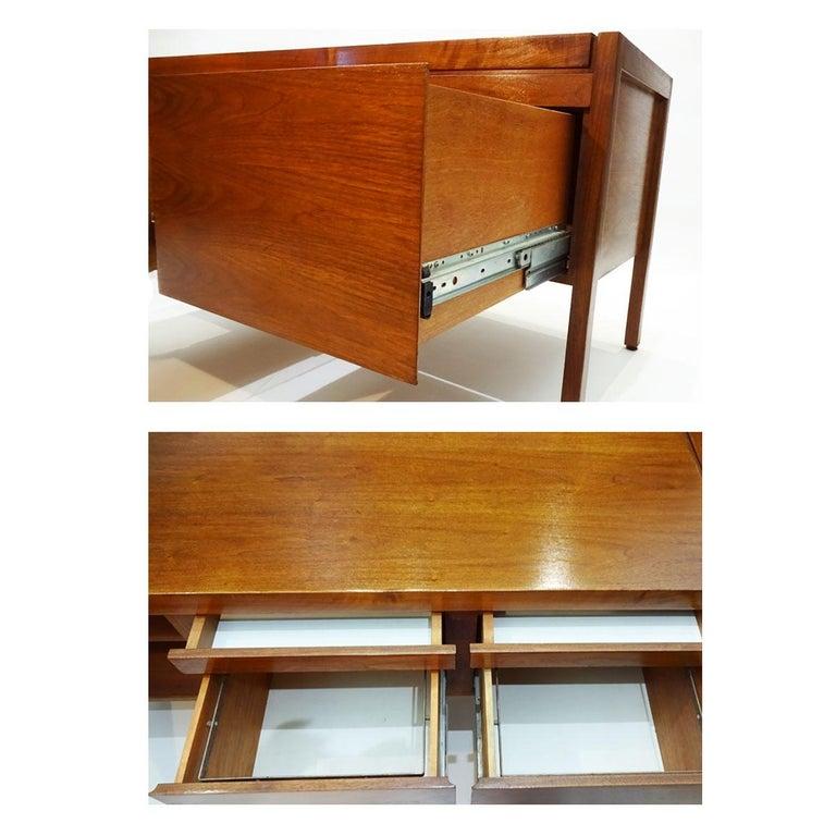 Vintage American Midcentury Jens Risom Walnut Office Bureau, Sideboard Credenza For Sale 2