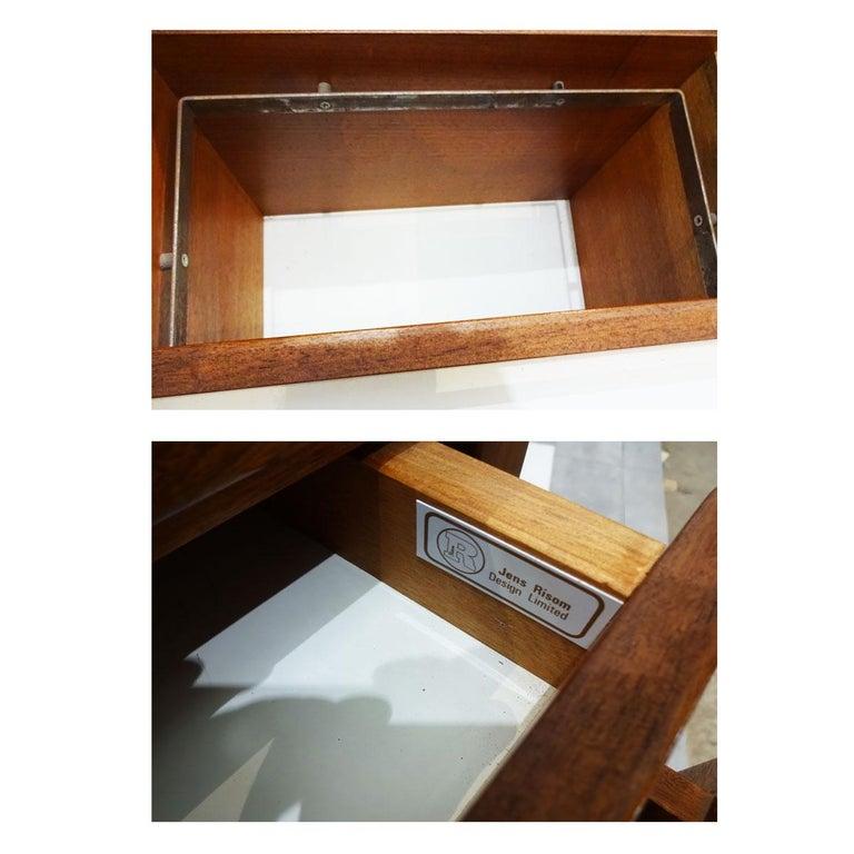 Vintage American Midcentury Jens Risom Walnut Office Bureau, Sideboard Credenza For Sale 3