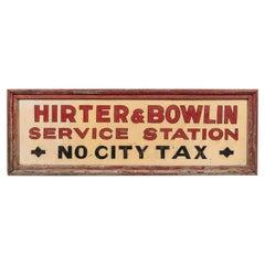Vintage American Service Station Wood Sign Original Red Paint