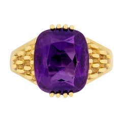 Vintage Amethyst Dress Ring, circa 1960s