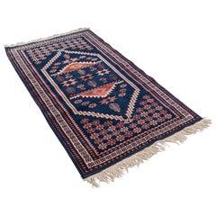 Vintage Anatolian Hallway Rug, Turkish, Woven, Carpet, Wall, circa 1970