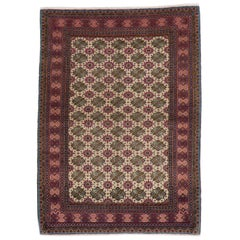 Vintage Anatolian Rug, Finely Hand Knotted Wool Carpet for Home and Office