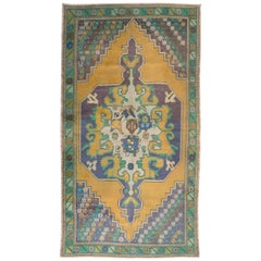 Vintage Anatolian Rug, Wool Carpet for Country Home, Rustic Decor