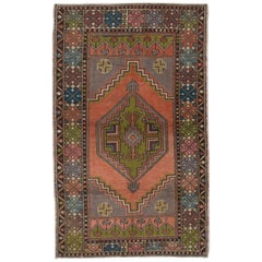 Vintage Anatolian Village Rug, Traditional Oriental Carpet, Soft Wool Pile