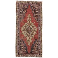Vintage Anatolian Village Rug, Traditional Wool Oriental Rug