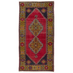Vintage Anatolian Village Rug. Traditional Wool Oriental Rug