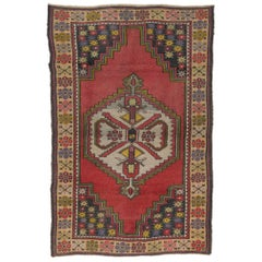 Vintage Anatolian Village Rug, Traditional Wool Oriental Rug from 1950s