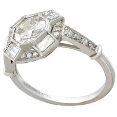 Vintage and Contemporary 1.79 Carat Diamond and Platinum Cocktail Ring