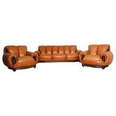 Vintage and Rare Sofa and Armchairs Set, Brasil, 1970s