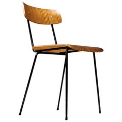 Vintage Andre Cordemeyer Chair Model 1262 in Brown Plywood, 1959 Gispen