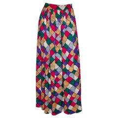 Vintage Andrea Odiccini Silk Wrap Over Skirt