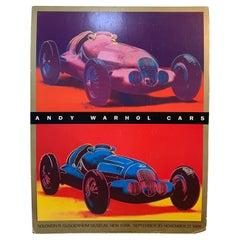 Vintage Andy Warhol Cars Solomon R. Guggenheim Exhibit Poster on Foam Board-1988