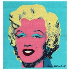 Vintage After Andy Warhol Marilyn Monroe Rug. Size: 2 ft 8 in x 2 ft 10 in