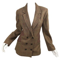 Vintage Angelo Tarlazzi Size 12 Avant Garde 1990s Double Breasted Blazer Jacket