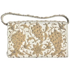 Vintage Anglo-Indian Hand-Crafted Clutch Purse or Evening Bag with Embroidery