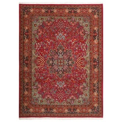 Vintage Animal Motif Tabriz Persian Rug. Size: 9 ft 10 in x 13 ft 5 in