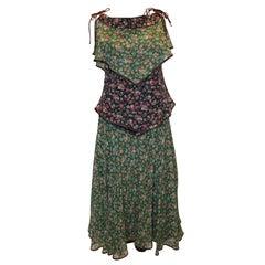 Vintage Anna Belinda Floral Skirt and Top