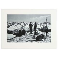 Vintage, Antique Alpine Ski Photograph, Davos Parsenn