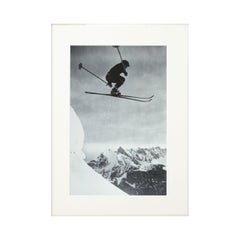 Vintage, Antique Alpine Ski Photograph, Der Sprung
