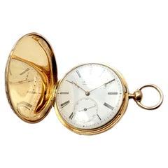 Vintage Antique Arnold Adams London Lever Key Wind Yellow Gold Pocket Watch