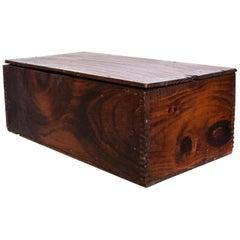Vintage Antique Decorative Wood Box Splice Lap Joints