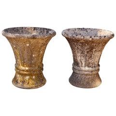 Vintage/Antique Garden Cast Stone Urns with Lichen Growth