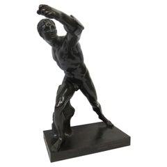 Vintage Antique Greek Gladiator Bronze