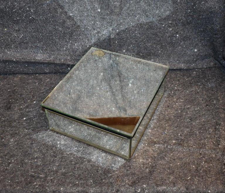 French 1970s mirrored decorative box.