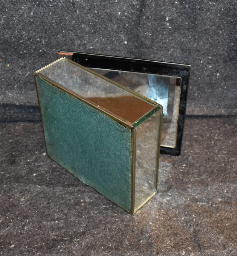 Vintage Antique Mirrored Jewelry Box For Sale 3