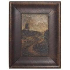 Vintage Antique Oil on Board Painting, Impressionism Signed Art