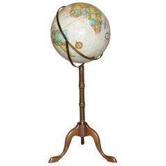 Vintage Antique Style Floor Standing Replogle World Classic Series Globe