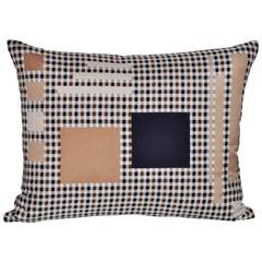 Vintage Aquascutum Silk Plaid Tartan Fabric and Irish Linen Cushion Pillow