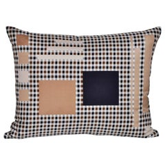 Vintage Aquascutum Silk Plaid Tartan Fabric and Irish Linen Cushion Pillow