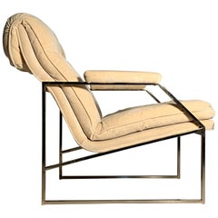 Vintage Architectural Lounge Chair attributed to Milo Baughman