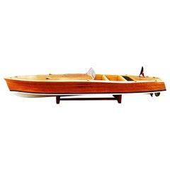 Vintage Arcoa Model Boat, France, 1950s