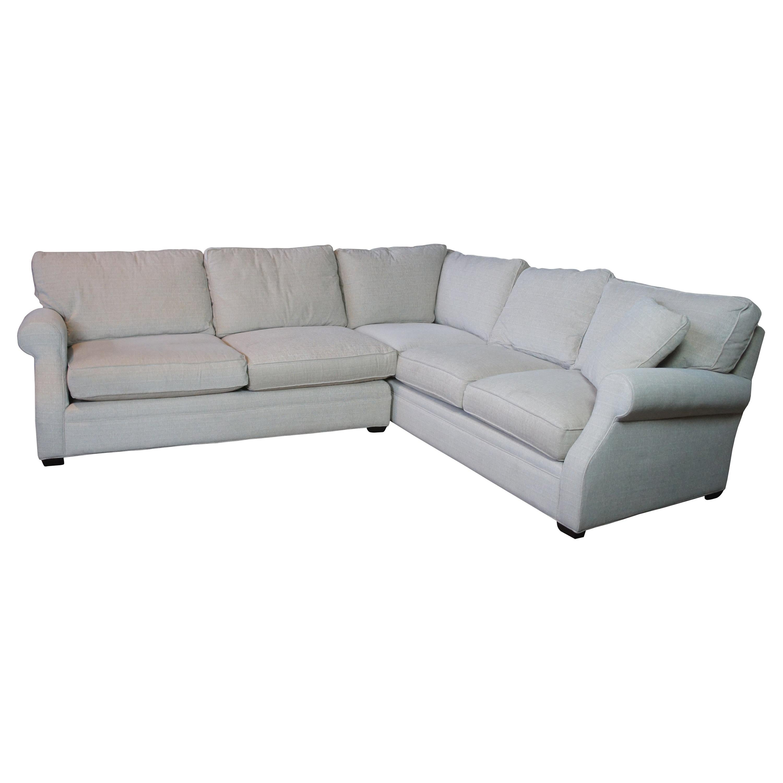 Vintage Arhaus Landsbury Camden 2 Pc Sectional 5 Seat Corner Sofa Couch