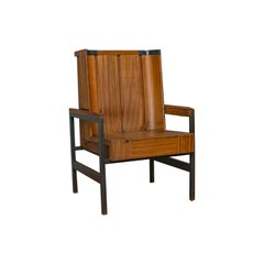 Vintage Armchair, English, Teak, Wingback, Seat, Modernist Taste, 20th Century