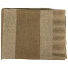 Vintage Armani Casa Beige Throw Blanket