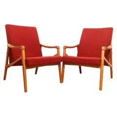 Vintage Armchairs, 1960s, Pair