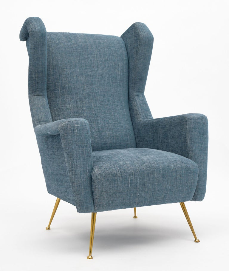 Mid-Century Modern Vintage Armchairs in the Style of Carlo di Carli For Sale